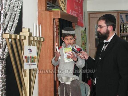 Festa di Chanuccà per bambini vittime del terrorismo